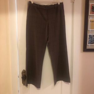 Wide leg brown slacks